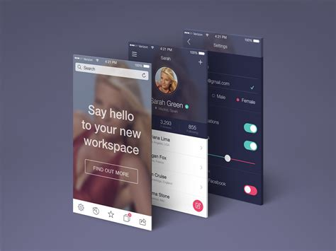 app screens perspective mockup graphicburger
