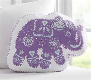 stella elephant decorative pillow pottery barn kids