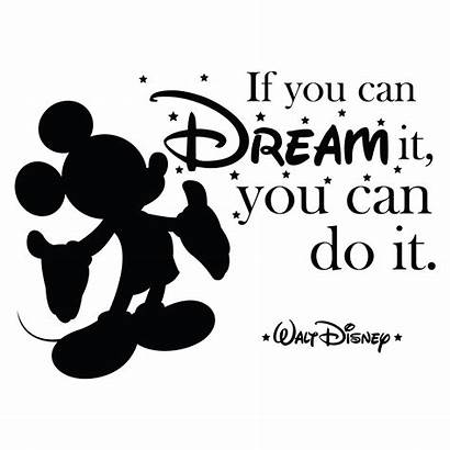 Disney Dream Mickey Walt Mouse Quotes Wall