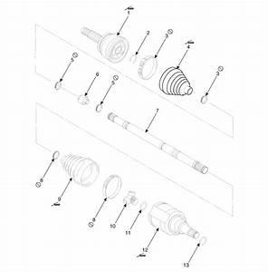 Kia Sorento  Bj Boot Components - Driveshaft Assembly - Driveshaft And Axle