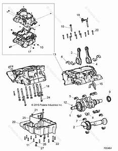 Polaris Side By Side 2016 Oem Parts Diagram For Engine  Crankcase And Crankshaft