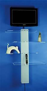 Etagere Pour Tv : etag re meuble tv murale ~ Teatrodelosmanantiales.com Idées de Décoration