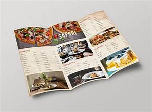 50 free psd restaurant flyer menu templates With 3 fold menu template