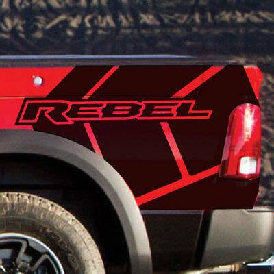 dodge ram rebel stripe graphic grunge logo truck