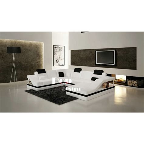 canapé panoramique design canapé d 39 angle design panoramique en cuir toronto pop