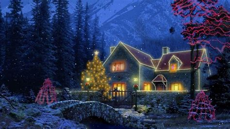 Snowy Cottage Animated Wallpaper - 3d cottage animated wallpaper wallpapersafari