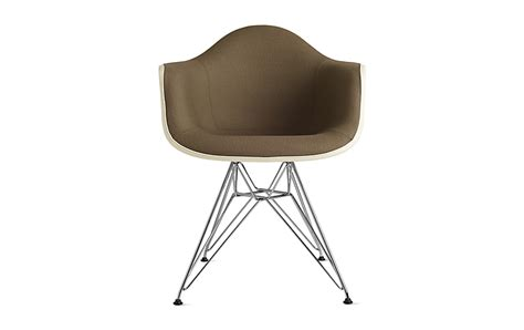Eames Molded Fiberglass Armchair Wire Base Upholstered