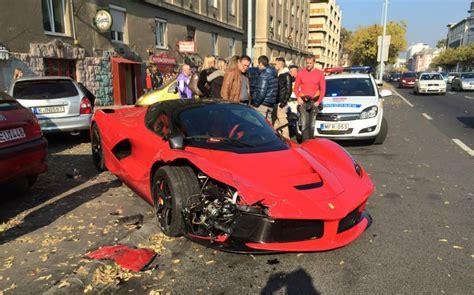 laferrari crash video ferrari laferrari crashes in budapest