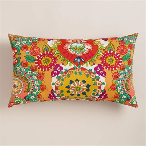 world market pillows bettina outdoor lumbar pillow world market