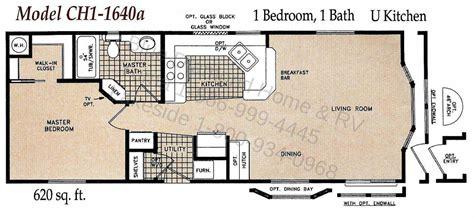 1 Bedroom Bath Mobile Home Floor Plans