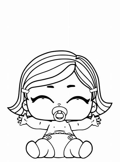 Lol Coloring Pages Surprise Dolls Sister Lil