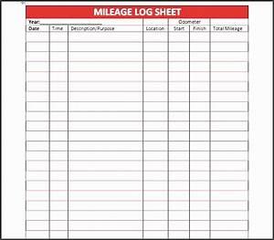Mileage Spreadsheet Template 8 Bus Mileage Log Template Sampletemplatess