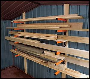 Wood Storage Rack PDF Woodworking