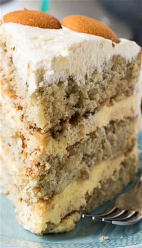 banana pudding cake ideas  pinterest banana