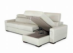 Leather sectional sofa with sleeper vg360 leather sectionals for Leather sectional sofas