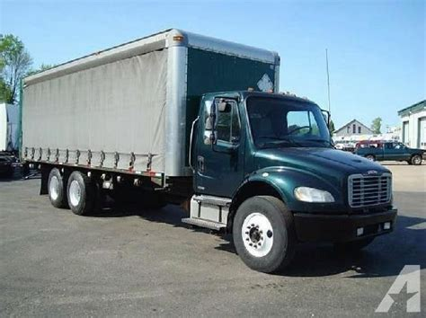 freightliner business class m2 106 curtain side truck for