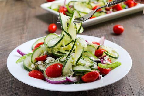spiralized village greek salad