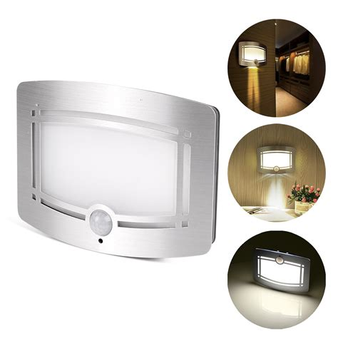 led wall light battery operated powered stainless steel w