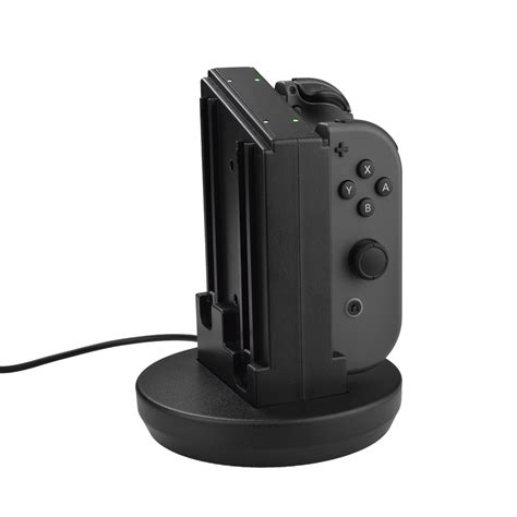 Joy Con Controllers Charging Dock Station W Led Light For