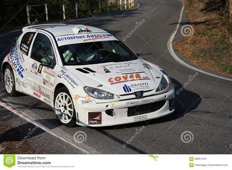 peugeot 206 rally peugeot 206 super 1600 rally car editorial stock image