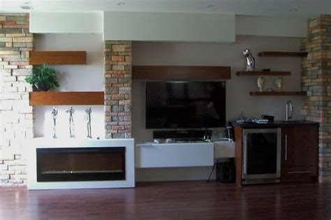 Modern Contemporary Wall Unit with Stone Elements