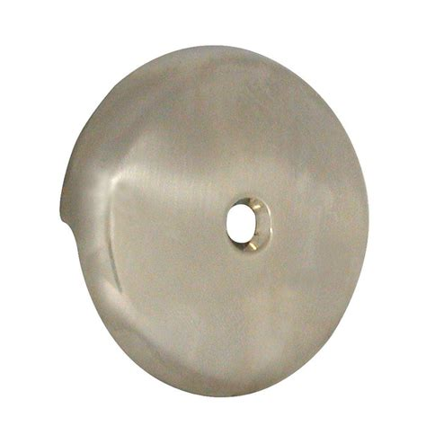 danco tub drain overflow plate in brushed nickel 89235 the home depot