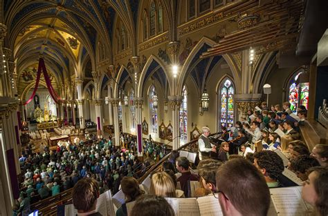 st patricks vocation celebrated  notre dame mass