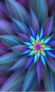 Blue Abstract Flower | Abstract flowers, Fractal art ...