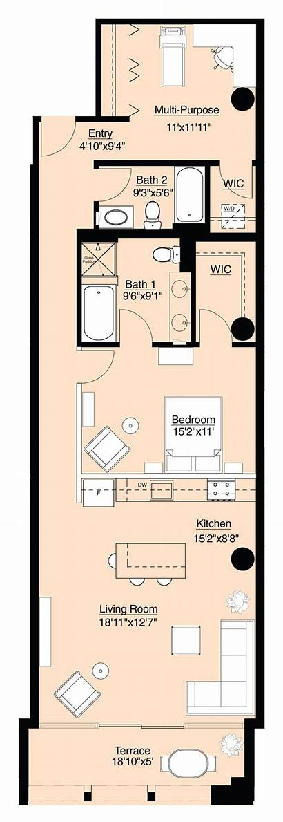 Shotgun Plans Floor Condo Chicago Lofts Plan