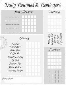 reflective journal template habit tracker printable working flylady control journal
