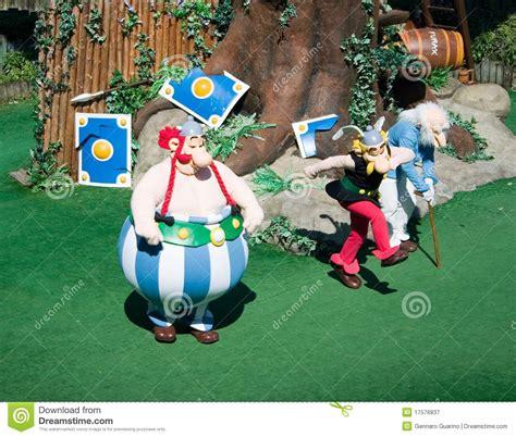 french park asterix asterix obelix  panoramix