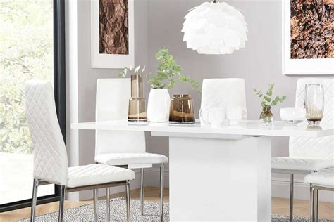 white dining sets white dining table chairs