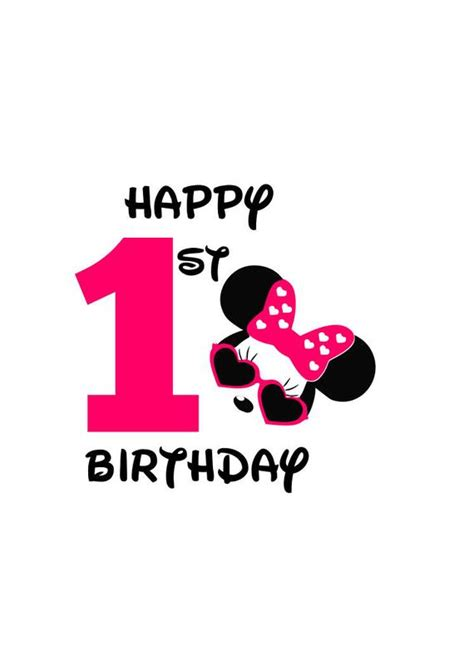 New users enjoy 60% off. Minnie Mouse Happy 1st Birthday girl svg file Minnie Mouse ...