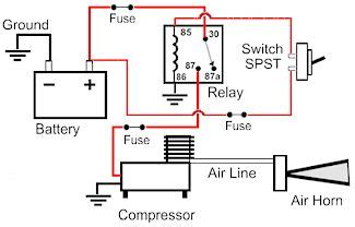 Magic 12 Volt Relay Wire Diagram by Horn Schematic Circuit Diagram Images
