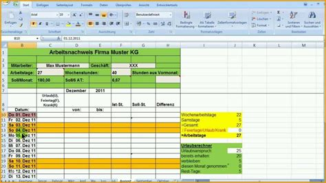 Maybe you would like to learn more about one of these? Perfekt Excel Zeiterfassung Wochentage Bedingt formatieren ...