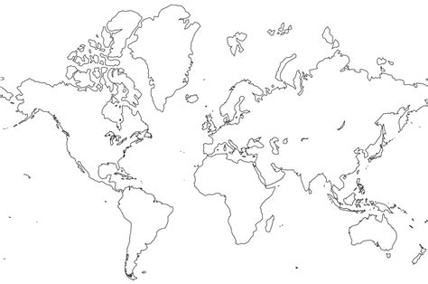world map coloring page  coloring pages