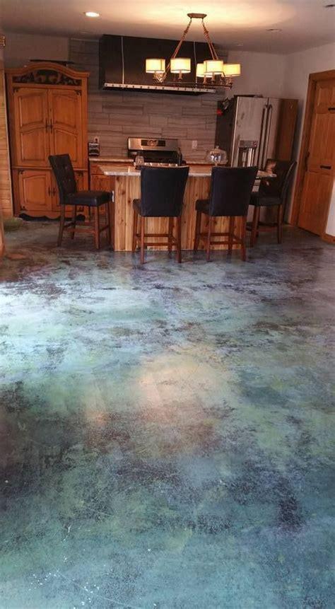 azure blue acid stain customer projects directcolorscom