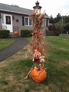 My, Fall, Lamp, Post
