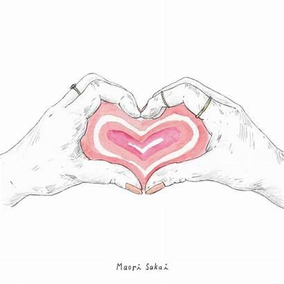 Heart Draw Giphy Maori Sakai Gifs Hearts
