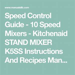 Speed Control Guide - 10 Speed Mixers