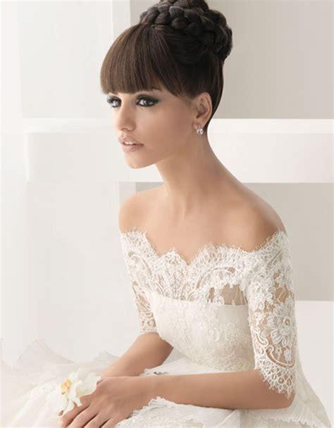 bolero mariage hiver hors la épaule robe de mariée robes hiver dentelle de mariage 791810 weddbook