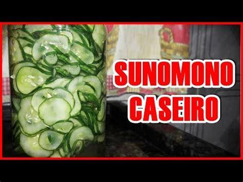 como fazer sunomono caseiro pepino agridoce japones por