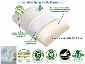 Oreiller Cervical Memoire De Forme : oreiller memoire de forme douleurs cervicales dodorelax ~ Melissatoandfro.com Idées de Décoration