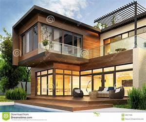 modern house stock photo image 46517595 With house interior and exterior design