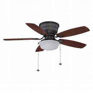 Litex in natural iron flush mount ceiling fan with
