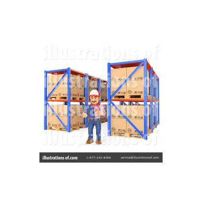 Warehouse Clipart Illustration Texelart Royalty Rf Cart