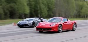 Ferrari Vs Lamborghini : ferrari 458 vs lamborghini aventador rolling italian race ~ Medecine-chirurgie-esthetiques.com Avis de Voitures
