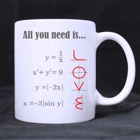 Smart Design Math Style LOVE Pattern All you need is LOVE Ceramic Coffee White Mug (11 Ounce