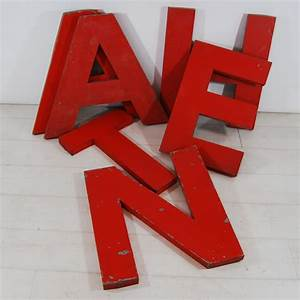 red metal letters tilt originals With red metal letters