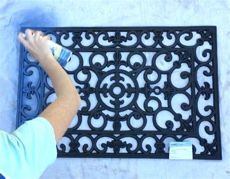 rubber doormat wall rubber door mat wall decor in 30 minutes hometalk